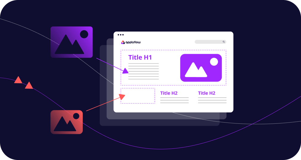 Applyflow website page builder feature illustration